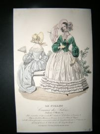 Le Follet C1840's Hand Coloured Fashion Print 759
